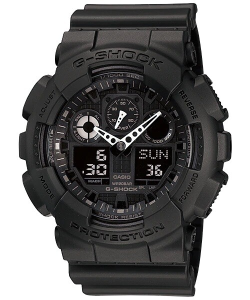 Casio G-Shock GA-100-1A1DR Analog-Digital Watch for Men -Black