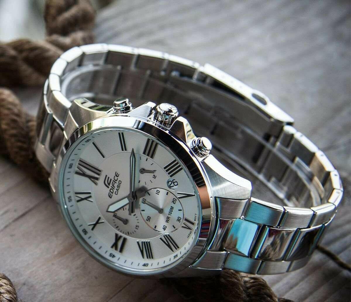 Casio Edifice EFV-500D-7AVUDF Analog Wrist Watch For Men - Silver
