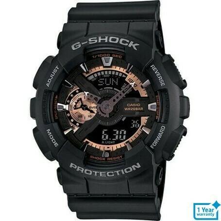 Casio G-Shock GA-110RG-1ADR Analog-Digital Watch for Men -Black