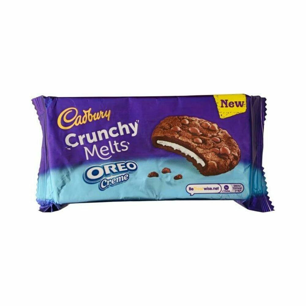 cadbury crunchy melts oreo creme chocolate cookies