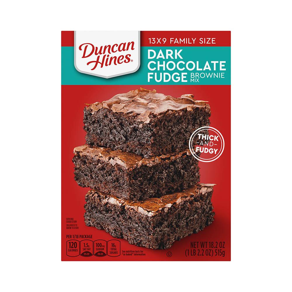 Dark Chocolate Fudgy Brownie Mix - Duncan Hines
