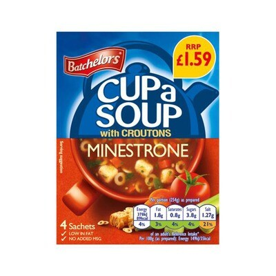 Batchelors Minestrone Cup Soup (4 Sachets)