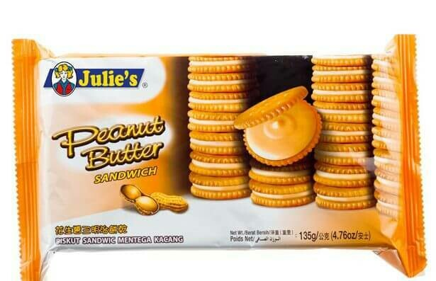 julie's peanut butter sandwich biscuit