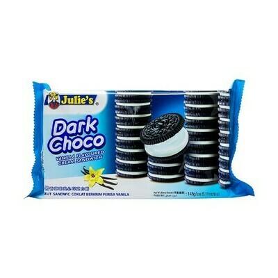 Julie'S Dark Choco Vanilla Cream Sandwich
