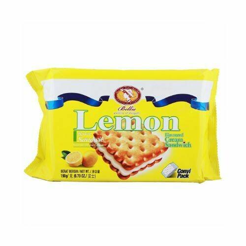 Bellie Cream Sandwich Biscuit - Lemon
