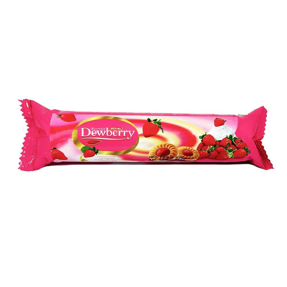 Dewberry Cream Sandwich Cookies-Strawberry