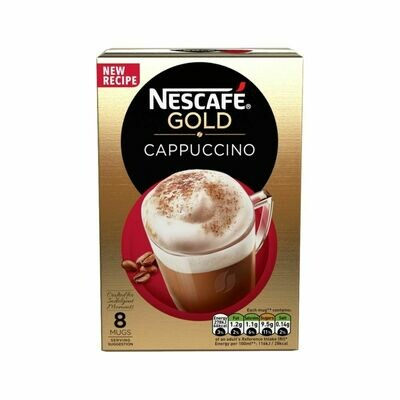 Nescafe Gold Cappuccino Coffee (UK)-8 Sachets
