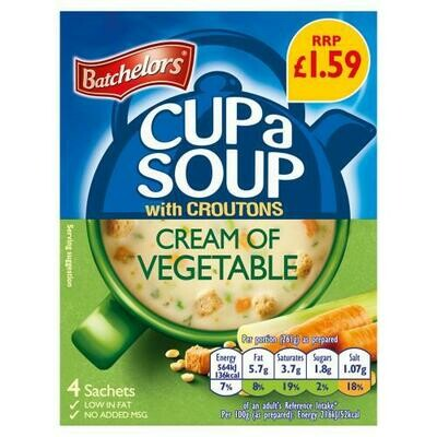 Cream of Vegetable Cup Soup (UK)-Batchelors