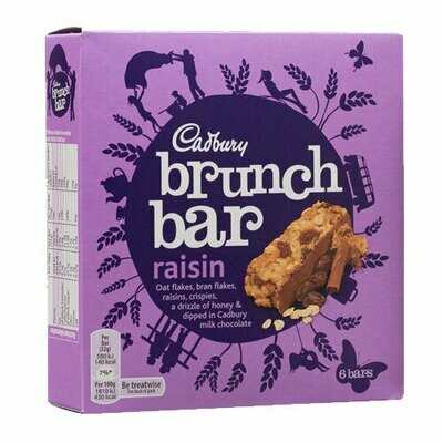 Cadbury Brunch Bar Raisin-6 Pack