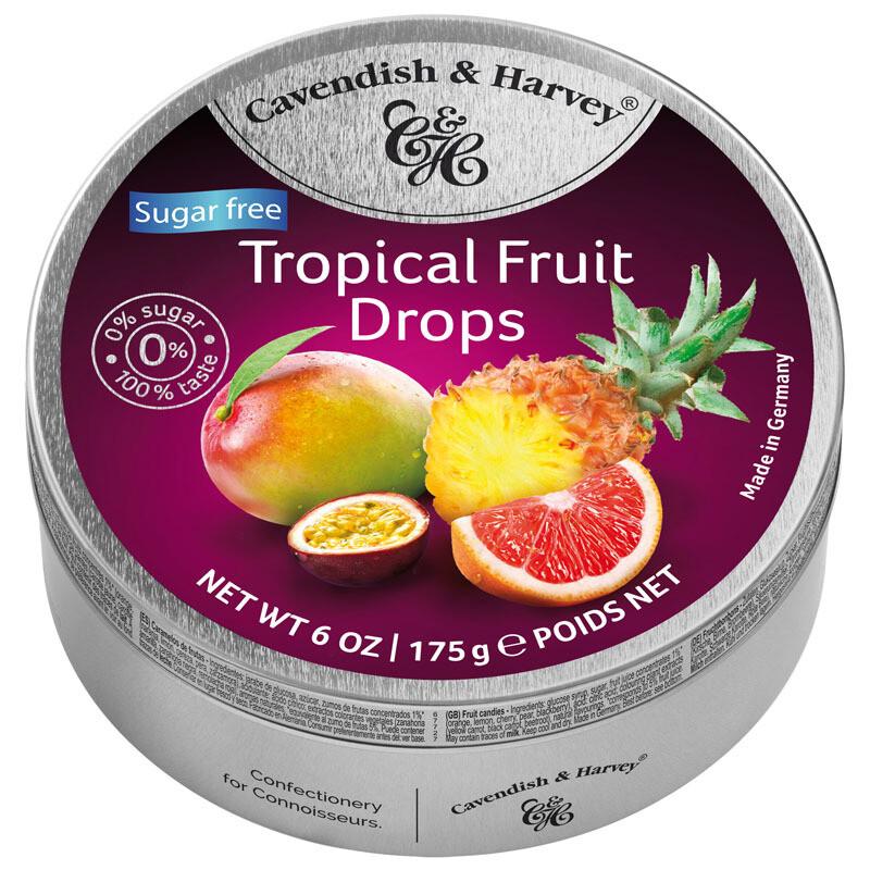 Cavendish & Harvey Sugar Free Tropical Fruit Drops