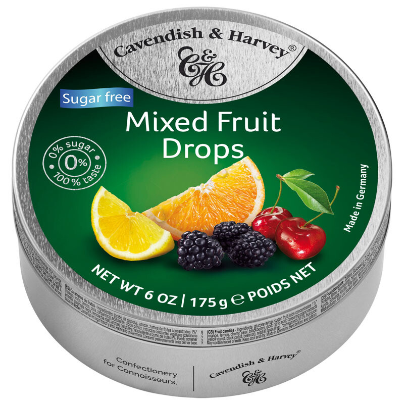 Cavendish & Harvey Sugar Free Mixed Fruit Drops