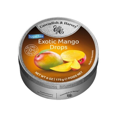 Cavendish & Harvey Sugar Free Exotic Mango Drops