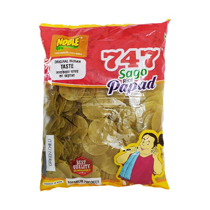 Sago Rice Papad Green Chilli Flavour