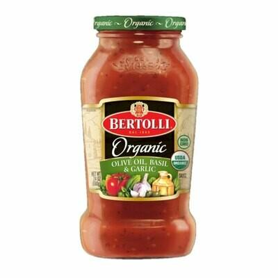 Bertollia Organic Olive Oil, Basil & Garlic Sauce