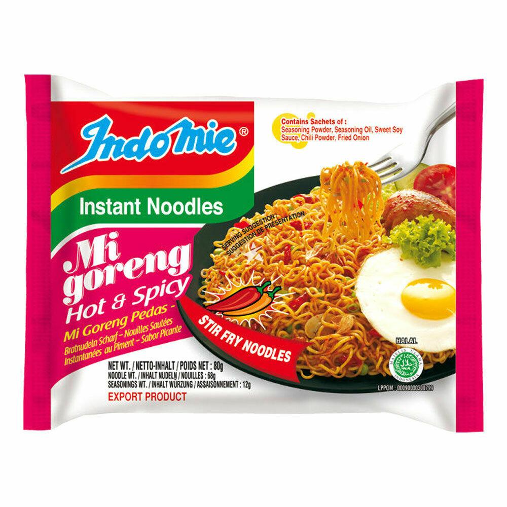 Mi Goreng Hot & Spicy Instant Noodles - Indomie
