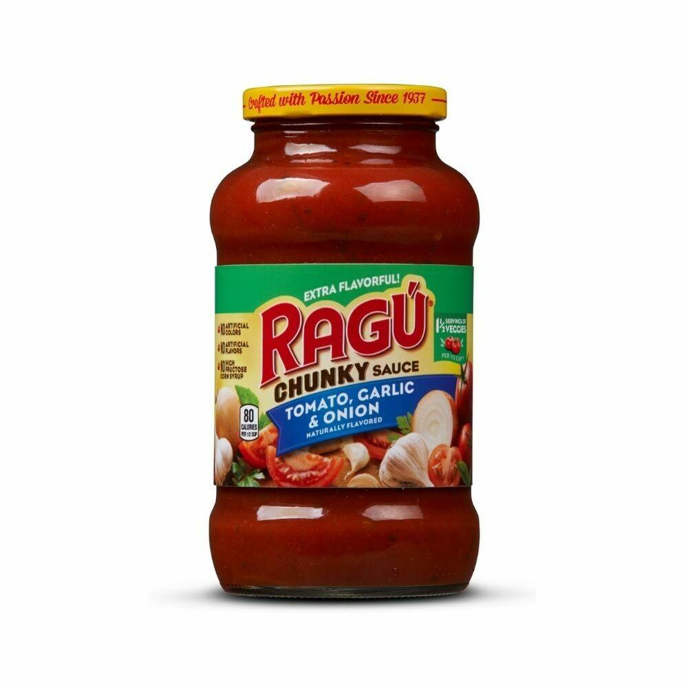 Ragu Chunky Tomato, Garlic & Onion Pasta Sauce-680g