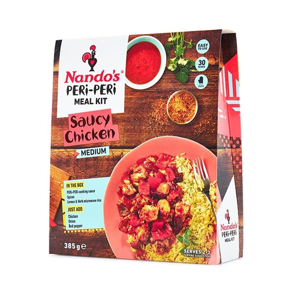 Nandos Peri Peri Meal Kit Medium Saucy Chicken