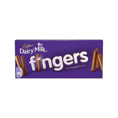 Cadbury Dairy Milk Fingers Chocolate Biscuits (UK)
