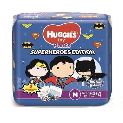 Huggies dry pants M (Superheroes Edition) 64pcs