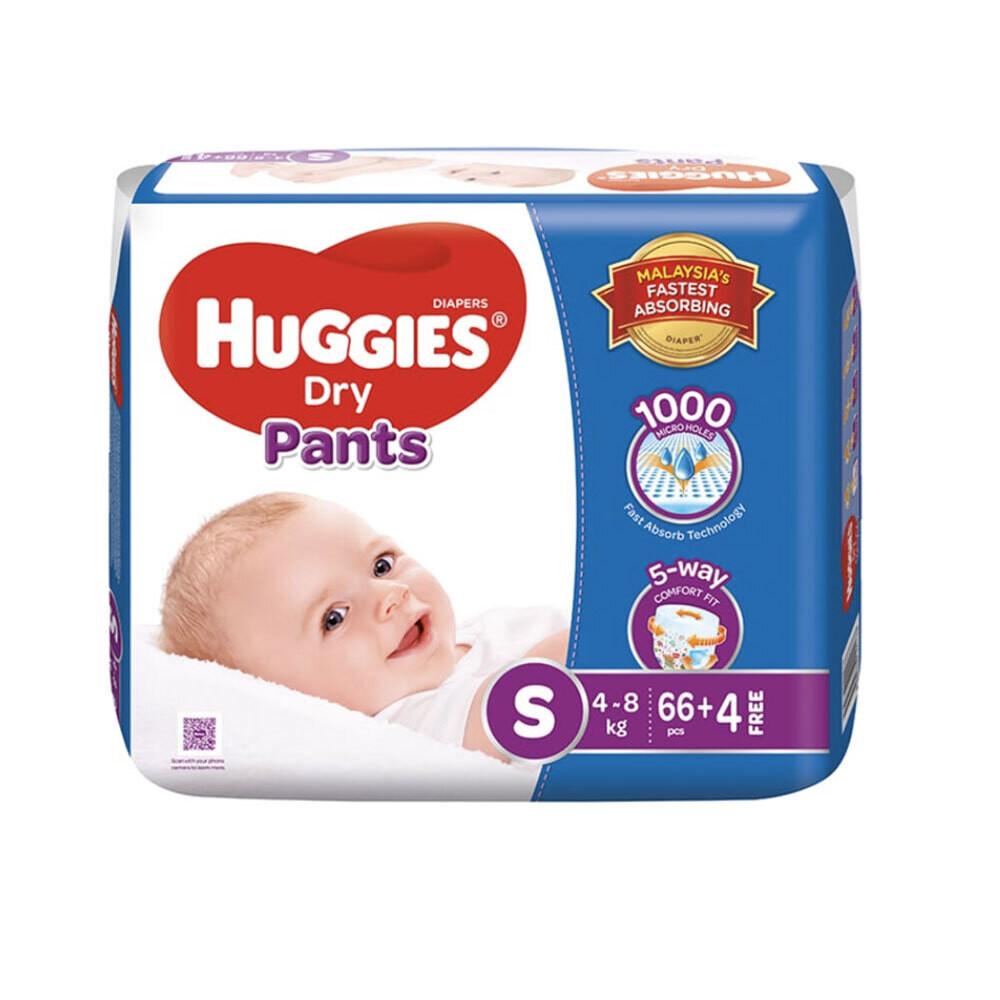 Huggies Dry Pants S (4-8kg) 70pcs