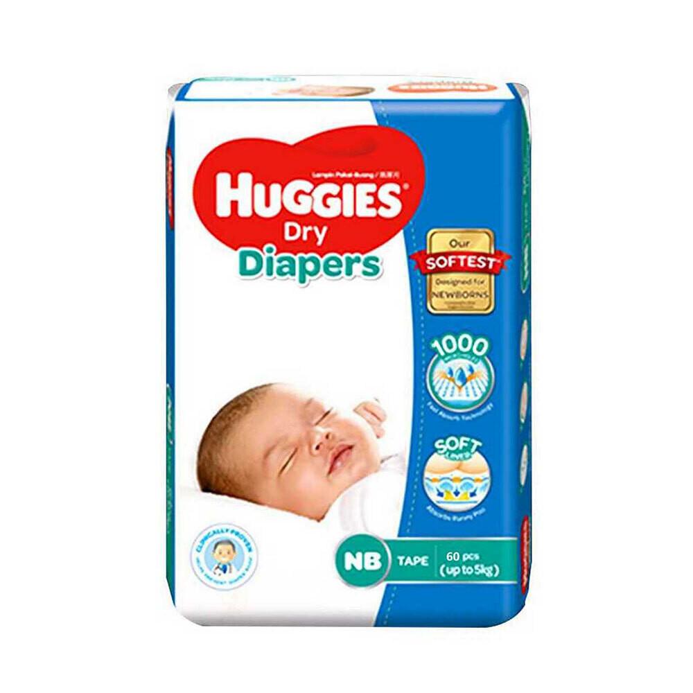 Huggies Baby Diaper Ultra New Born Belt Up to 5 kg-64Pcs