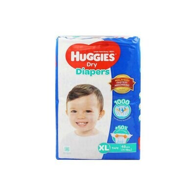 Huggies Dry Baby Diaper Belt XL (11-16 kg) 48pcs