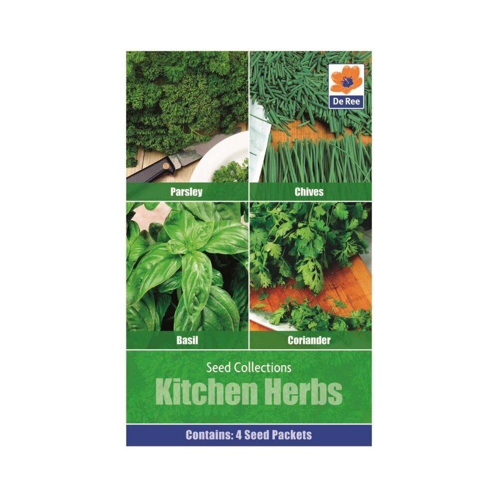 Kitchen herbs Seeds (Parsley,Chives,Basil,Coriander)-UK