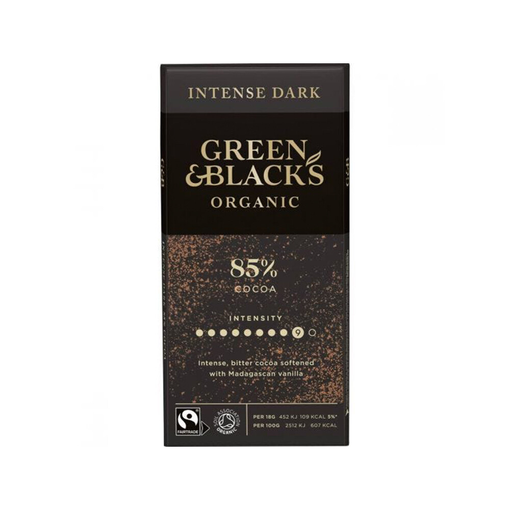 Green & Black Organic Dark Chocolate 85% Cocoa (UK)