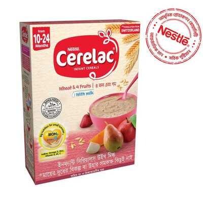 Nestlé Cerelac 3 Wheat & 4 Fruits (10 M +)