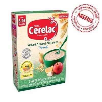 Nestlé Cerelac 1 Wheat & Three Fruits (6 M+)