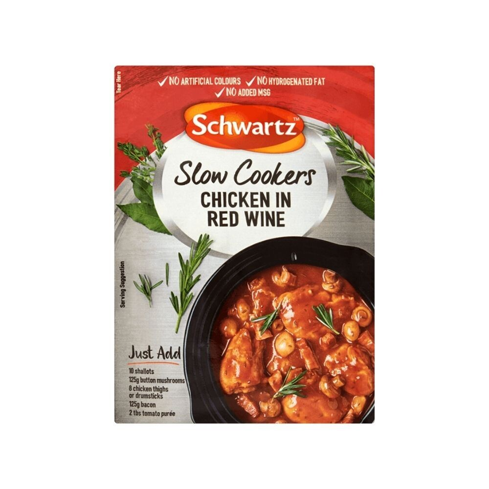 Schwartz Slow Cookers Chicken In Red Wine
