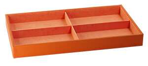 ACCESSORY TRAY W/ CROSS INSIDE - MANDARIN (ORANGE)