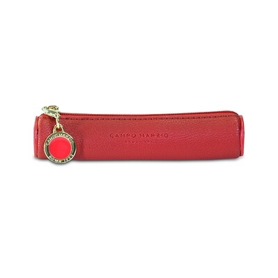 PEN CASE WITH ZIP & CHARM TAG - MINI