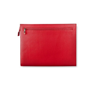 SAFFIANO DOCUMENT HOLDER W/ ZIPS - MEDIUM