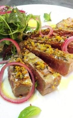 Trancio di tonno agli agrumi