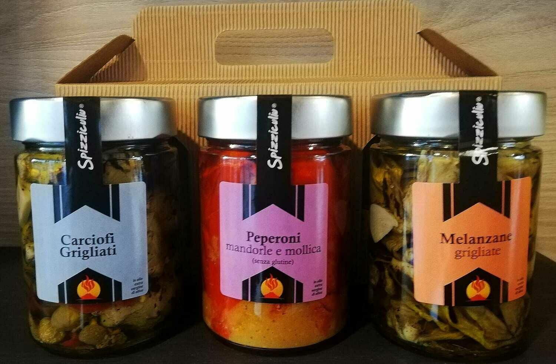 Carciofi grigliati - Peperoni mandorla e mollica - Melanzane grigliate