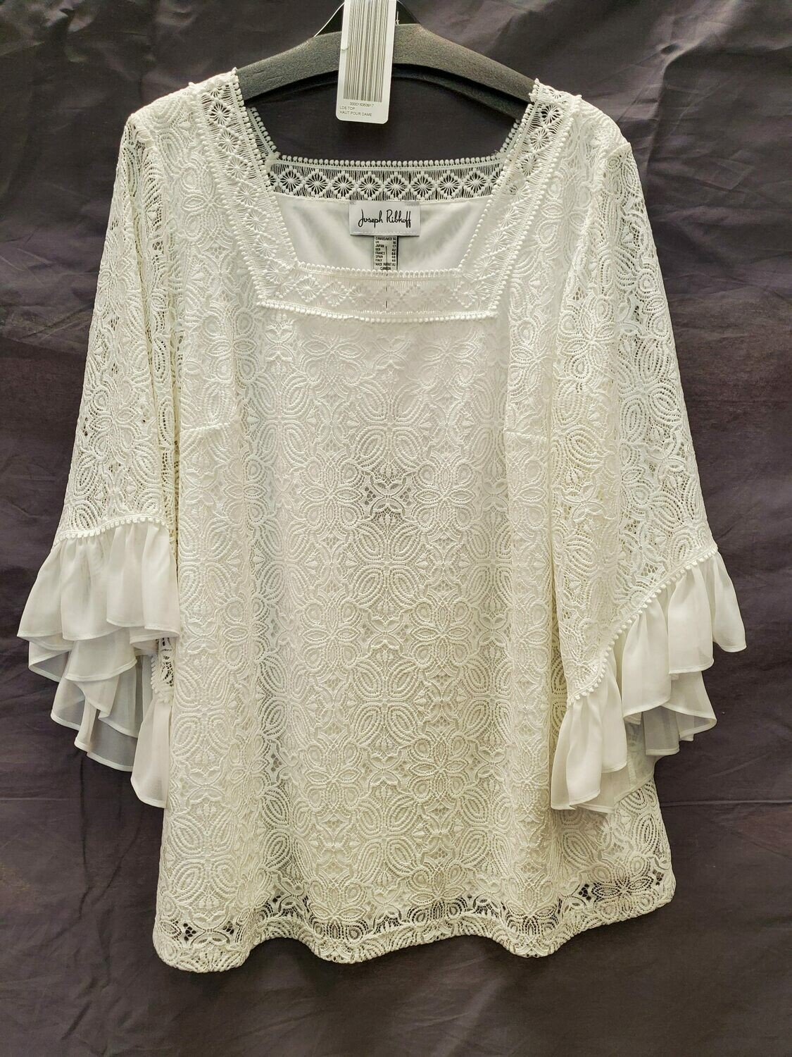 JR White Lace Bell Sleeve