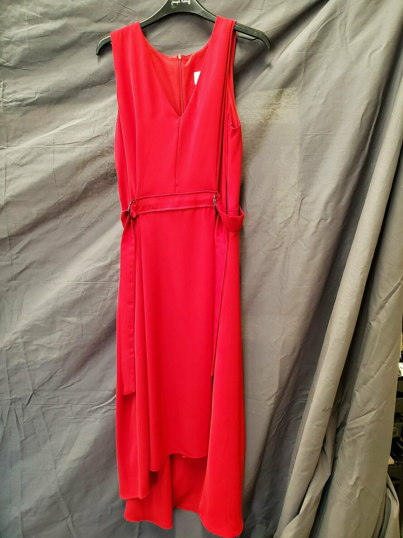 JR Red Side Buckle Dress