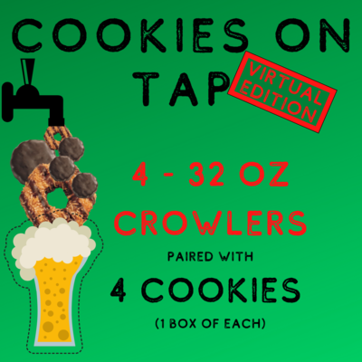 Cookies On Tap 4-pack Pairing Package-not available for pickup until 2/24