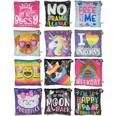 Sequence Pillows, Unicorn, Dog, Birthday Variety - Throw Pillow for Bed or Chair