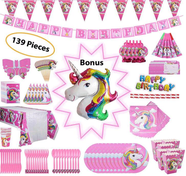 Unicorn Party Set - 139 Pieces