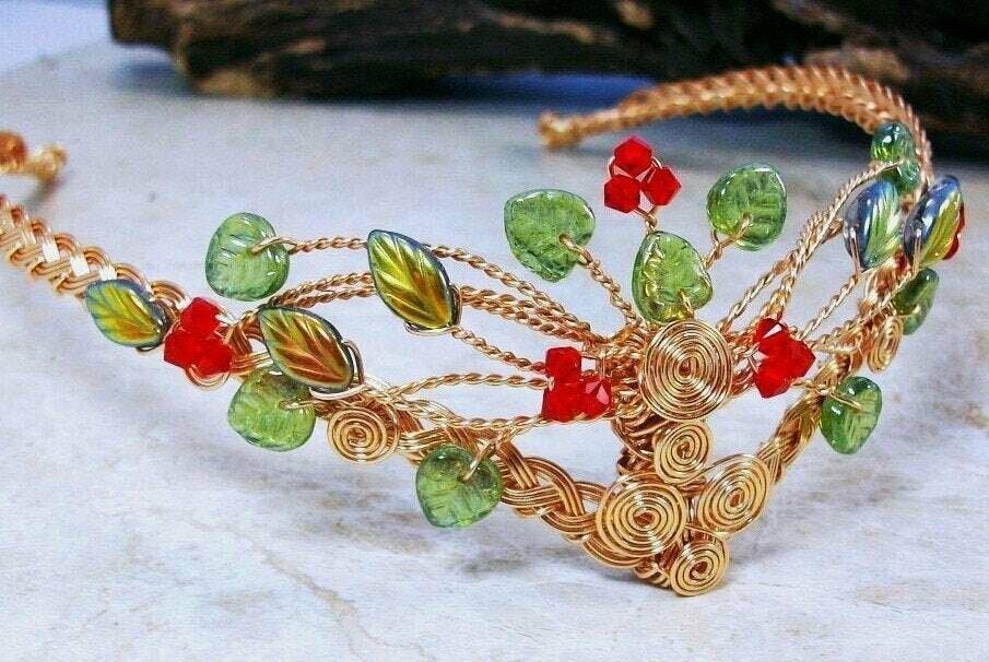 Rowan Berry Celtic Tree of Life Tiara Circlet