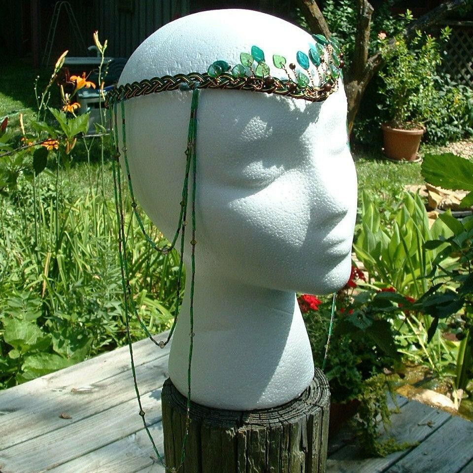 Boho Wedding Headdress Elven Woodland