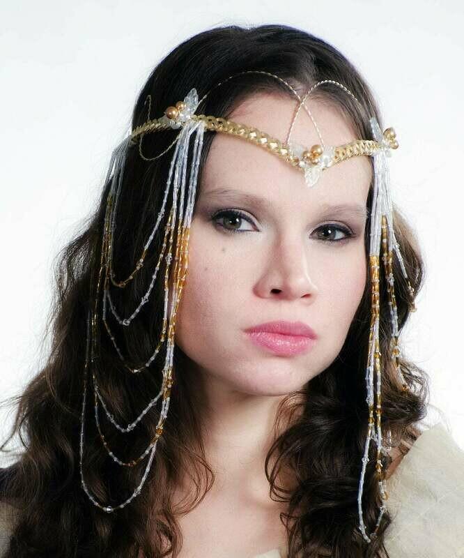 Elven Butterfly Wedding Headdress Art Nouveau