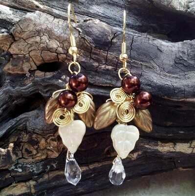 Fields of Gold Crystal Drop Earrings