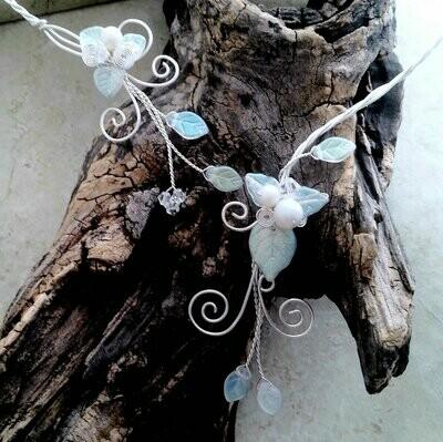 Aurora Frost Elven Torc Collar Necklace Custom Length