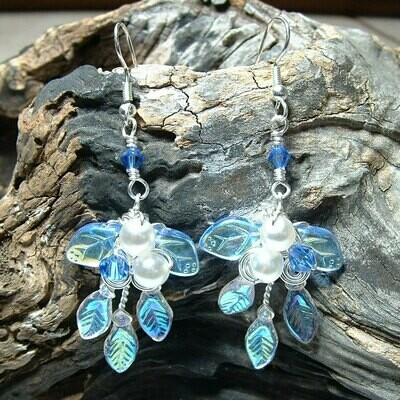 Sapphire and Ice Fairy Earrings