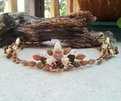 Fields of Gold Art Nouveau Flame Tiara