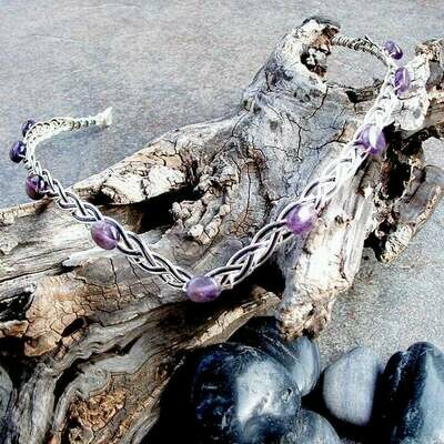 Amethyst Renaissance Wedding Circlet Headband