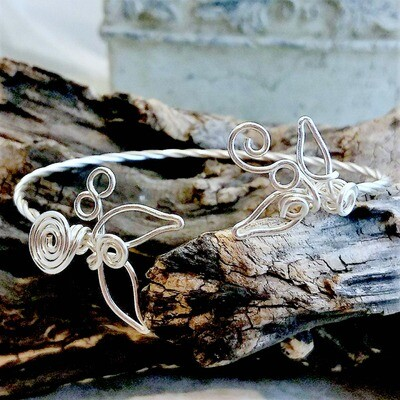 Mermaids Tale Cuff Arm Cuff or Bangle Bracelet